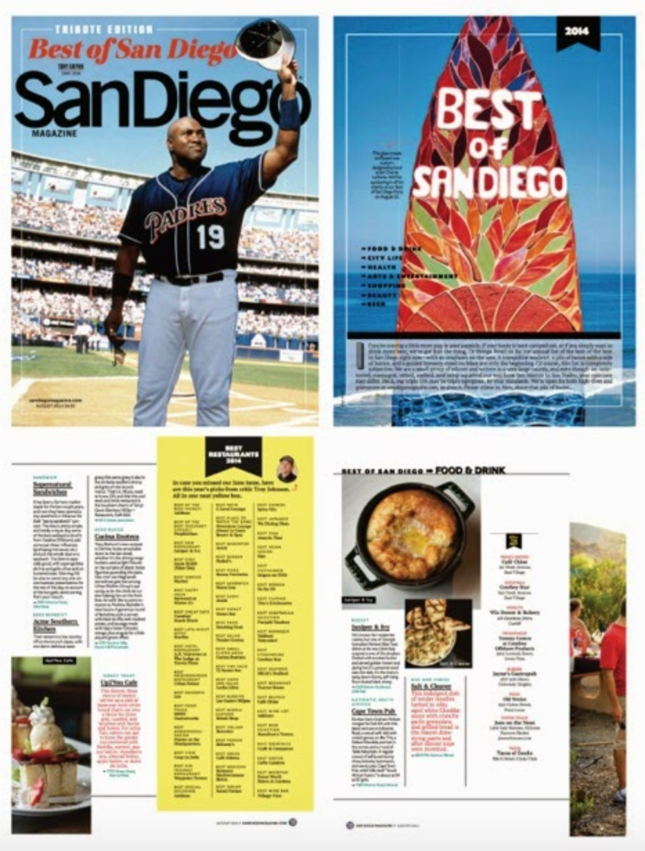 Best of San Diego cover and articles